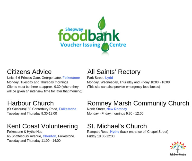 Getting Help From Shepway Foodbank Folkestone Rainbow Centre