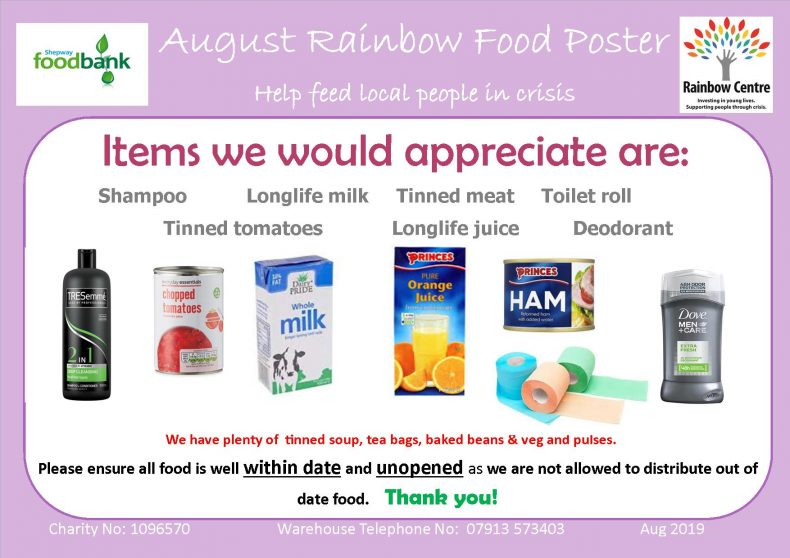 Shepway Foodbank Archives Folkestone Rainbow Centre